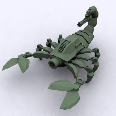 mechanical scorpion 3d model