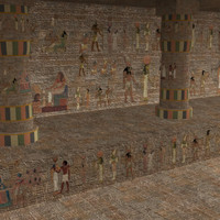 egypt temple city building 3d model