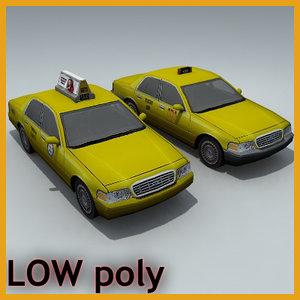 3d car taxi sedan model