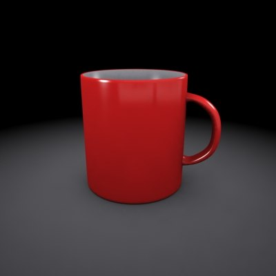 3ds max drinking mug