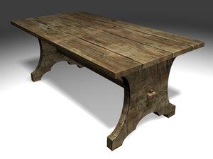 gothic table modeled blend