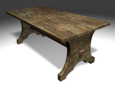 gothic table modeled blend