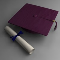 graduation cap+diploma 3ds.zip