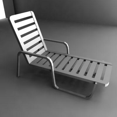 deck chair 3d 3ds