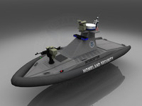 homeland security patrol boat c4d