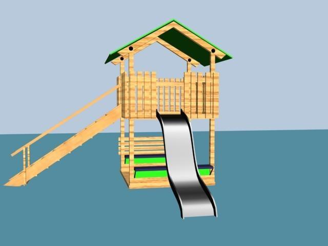 3ds max playhouse children wooden