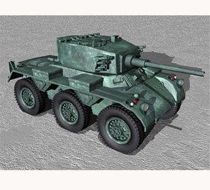 wwii saladin tank 3d model