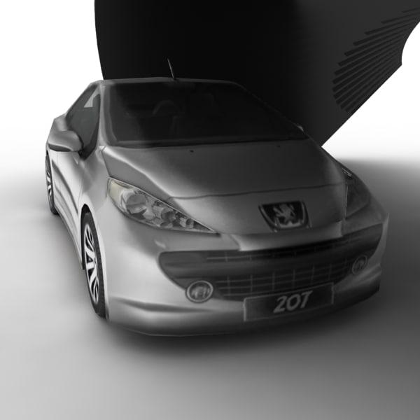 pugeot 207 peugeot car 3d max