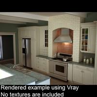 kitchen interior 3ds