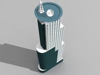 shanghai skyscraper 7 building 3d model