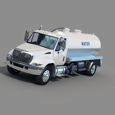 water tank truck 3d model