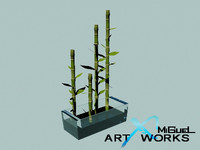3d decorative bamboo plants