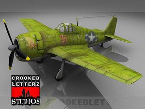 3ds grumman f6f hellcat fighter plane