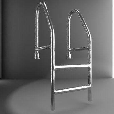 3d model pool ladder