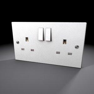 3d model wall socket