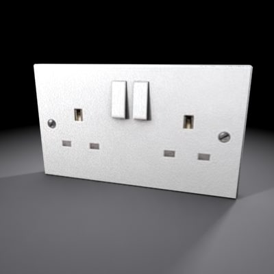 3d model wall socket