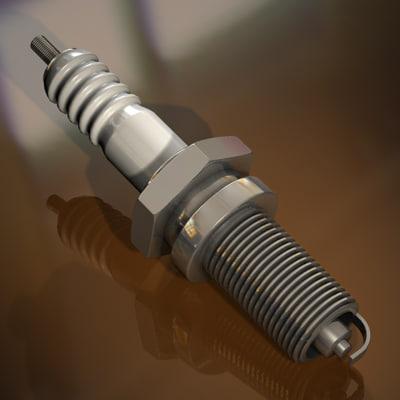 ignition plug spark 3d model