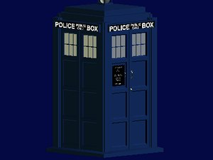 free tardis christopher eccleston david 3d model