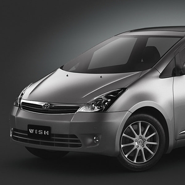 toyota wish 3d model