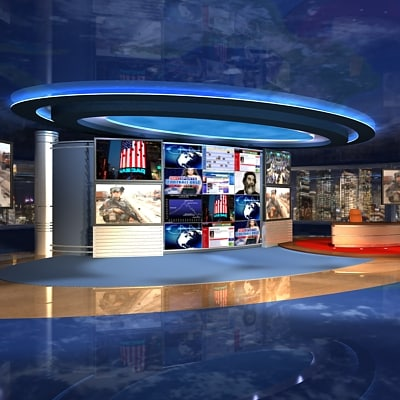tv news studio max