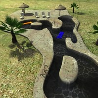 large pool swimming 3d model