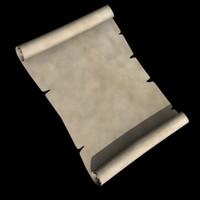 3d model paper scroll