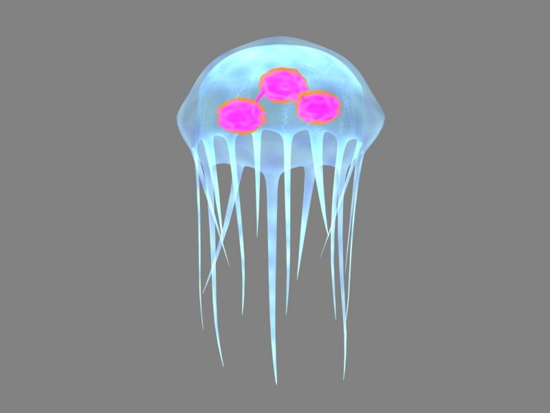 jelly fish 3d max