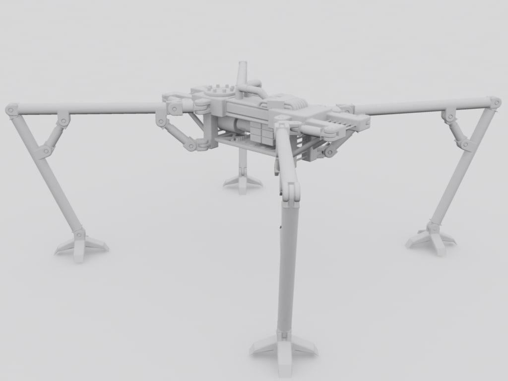 4 legged chassis robotic max