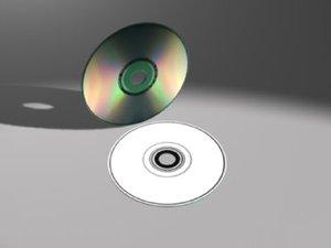 3d cd disc model