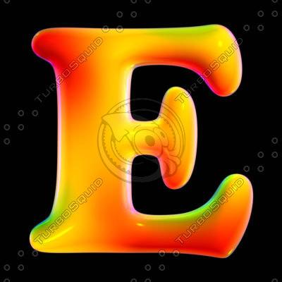 free max model organic font letter e