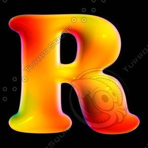 organic font letter r max