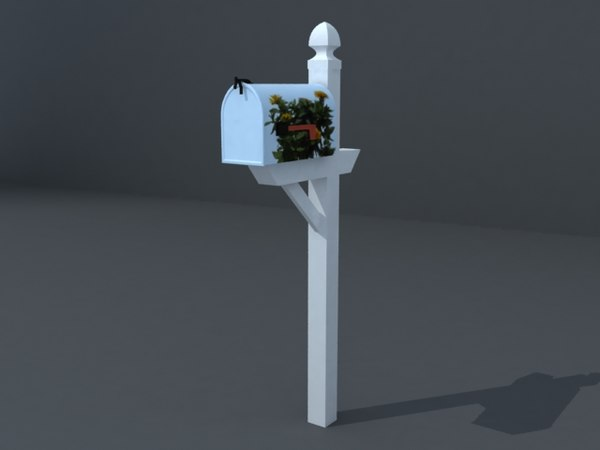 3ds max mailbox letterbox