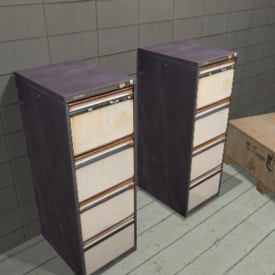 3d old filing cabinet office model