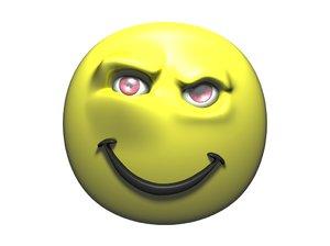 evil smile face 3d model