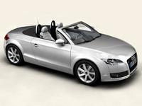 audi tt roadster 3 car 3d model