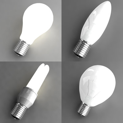 light bulb 3d 3ds