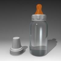 3d feeding bottle model