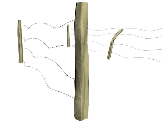 barbed wire fence 3d max