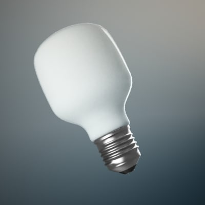 incandescent lightbulb light 3ds
