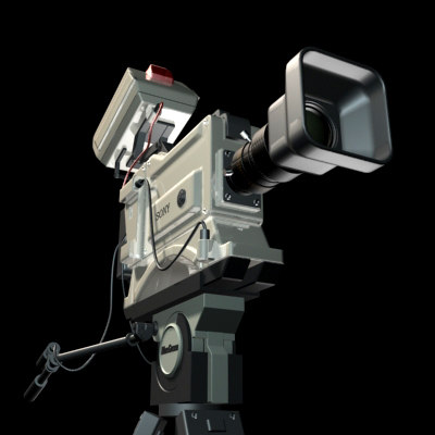 sony betacam video camera 3d 3ds