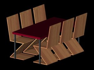 6 chairs c4d free