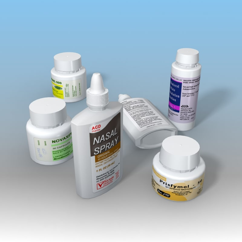 3d model plastic medicine bottles