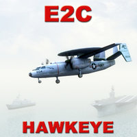 e2c hawkeye aircraft games 3d model