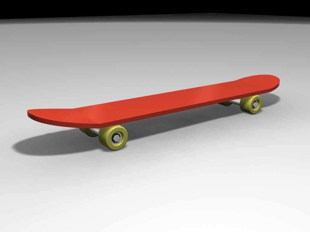 free skateboard 3d model