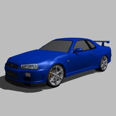3d Max Nissan Skyline R34 Gtr