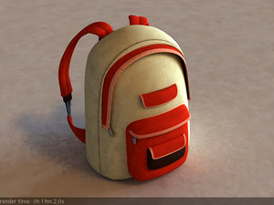 school bag backpack 3d model