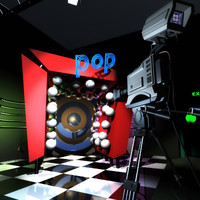 music tv studio 3d model