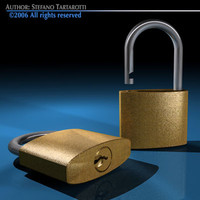 3ds padlock key lock