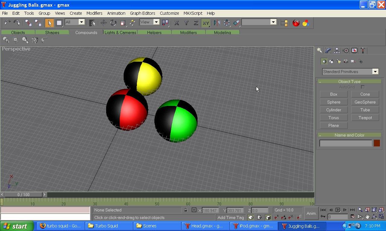 ds max juggling balls