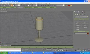 3ds max champagne glass